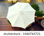 White Umbrella Seen From Above...