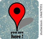 you are here vector design  | Shutterstock .eps vector #146679551