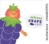 kid dressed grape costume flat... | Shutterstock .eps vector #1466803901