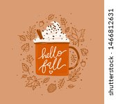 hello fall isolated vector... | Shutterstock .eps vector #1466812631