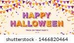 happy halloween card or banner...   Shutterstock .eps vector #1466820464