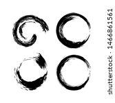 black circles brush strokes set ... | Shutterstock .eps vector #1466861561
