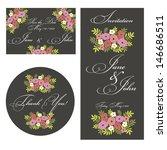wedding set | Shutterstock .eps vector #146686511