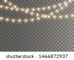 christmas lights isolated on... | Shutterstock .eps vector #1466872937
