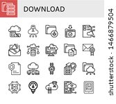 set of download icons such as...   Shutterstock .eps vector #1466879504