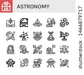 set of astronomy icons such as...   Shutterstock .eps vector #1466879717