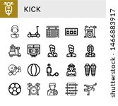 set of kick icons such as... | Shutterstock .eps vector #1466883917
