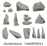 rock stones. graphite stone ... | Shutterstock .eps vector #1466895011