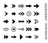black arrows set on white... | Shutterstock .eps vector #1466928704