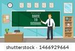 smiling cute male teacher...   Shutterstock .eps vector #1466929664