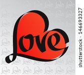 love typography. heart... | Shutterstock .eps vector #146693327