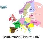 map of europe. vector...   Shutterstock .eps vector #1466941187