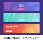 colorful web banner with push... | Shutterstock .eps vector #1466977574