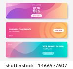colorful web banner with push...