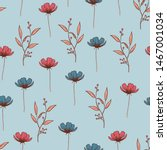 beautifull wild flowers...   Shutterstock .eps vector #1467001034