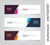 vector abstract banner design... | Shutterstock .eps vector #1467036587