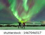 Aurora Borealis or better known as the The Northern Light in Golden Circle, Iceland