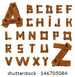 Alphabet Of Downed Wood Planks...