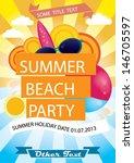 summer beach party vector...   Shutterstock .eps vector #146705597