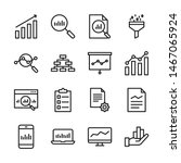 data analysis line icons set... | Shutterstock .eps vector #1467065924