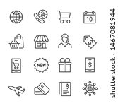 vector icons set of shopping. | Shutterstock .eps vector #1467081944