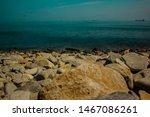 Stone Coast With Blurry Waves
