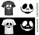 scary face skeleton ... | Shutterstock .eps vector #1467102041