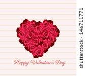 happy valentines day | Shutterstock .eps vector #146711771