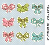 set of bow doodle | Shutterstock .eps vector #146718467