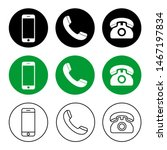 phone icon vector. call icon... | Shutterstock .eps vector #1467197834