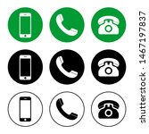 phone icon vector. call icon... | Shutterstock .eps vector #1467197837