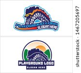roller coaster design logo... | Shutterstock .eps vector #1467205697