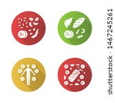 vitamins color icons set. b1 ... | Shutterstock .eps vector #1467245261
