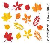 Autumn Leaves Set  Isolated On...