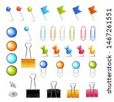 stationery supply pins and...   Shutterstock .eps vector #1467261551