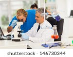 two male medical researchers... | Shutterstock . vector #146730344