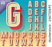 vector retro alphabet for...