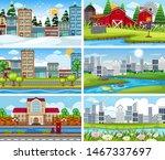 a set of outdoor scene...   Shutterstock .eps vector #1467337697
