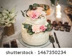 Wedding Cake  On The Table ...
