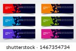 set of modern  web banner... | Shutterstock .eps vector #1467354734