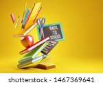 a back to school background... | Shutterstock . vector #1467369641
