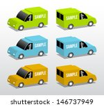 colored vans  cartoon 3d... | Shutterstock .eps vector #146737949