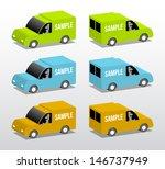 colored vans  cartoon 3d... | Shutterstock .eps vector #146737949