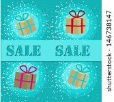 sale invitation card with... | Shutterstock .eps vector #146738147