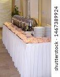 decorated wedding banquet hall... | Shutterstock . vector #1467389924