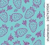 line art outline strawberry...   Shutterstock .eps vector #1467419504