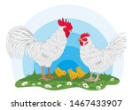 hicken  rooster and little... | Shutterstock .eps vector #1467433907