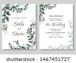 vector template for wedding... | Shutterstock .eps vector #1467451727