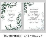 vector template for wedding... | Shutterstock .eps vector #1467451727
