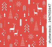 seamless christmas pattern.... | Shutterstock .eps vector #1467453647